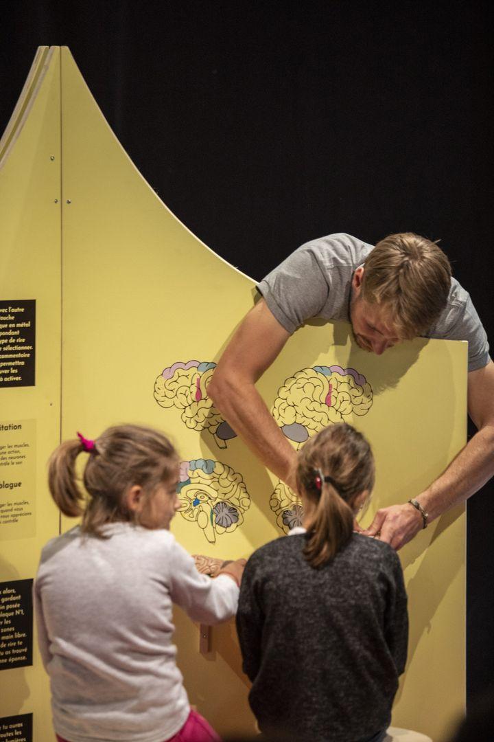 Le cerveau et le rire, à l'exposition Le rire : la science aux éclats (PIERRE GRASSET)