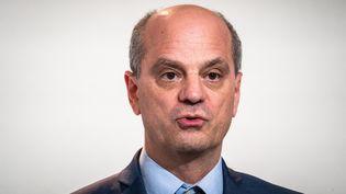 Le ministre de l'Education nationale, Jean-Michel Blanquer, fait un point sur l'épidémie de Covid-19, le 12 novembre 2020 à Paris. (XOS? BOUZAS / HANS LUCAS / AFP)