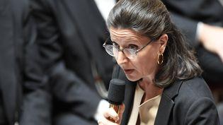 La ministre de la Santé, Agnès Buzyn, le 10 avril 2018 à l'Assemblée nationale, à Paris. (BERTRAND GUAY / AFP)