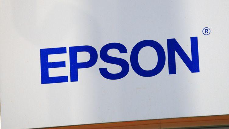 L'enseigne de la marque informatique Epson. (MAXPPP)