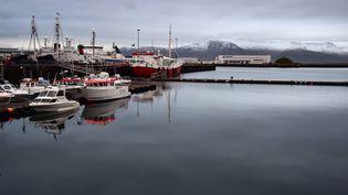 Le port deReykjavik en Islande, photographié le 21 novembre 2016. (MAXPPP)