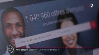 Un million d'offres sur Pôle emploi, vraiment ? (FRANCE 2)