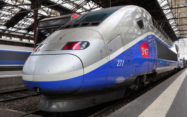 Un TGV de la SNCF à la gare de Lyon, à Paris, le 30 avril 2015. (MANUEL COHEN / AFP)