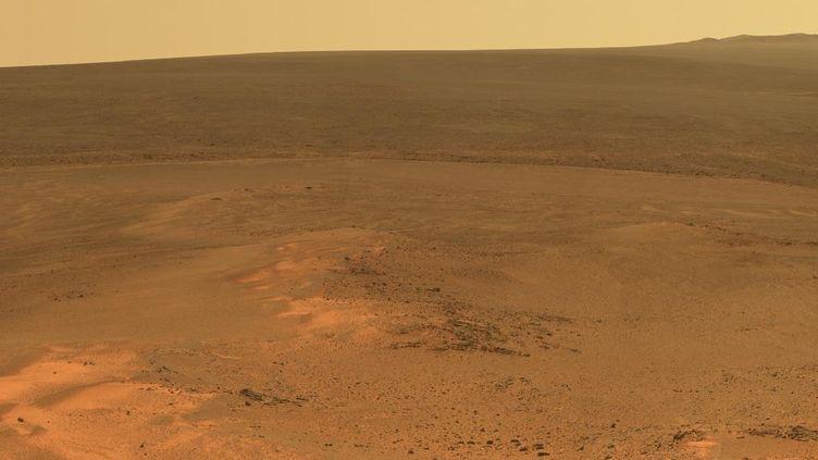 "Une photo de ""Greeley Haven"", sur Mars. ( NASA / JPL-CALTECH / CORNELL/ ARIZONA STATE UNIVERSITY)"