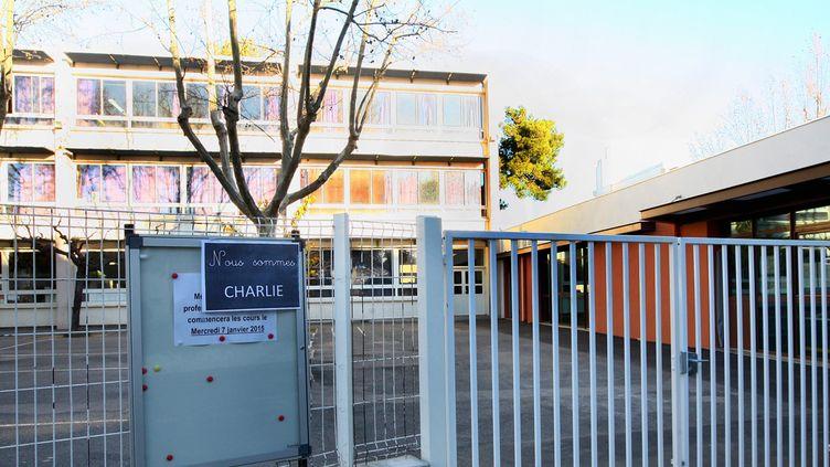 (Devant une école primaire, à Perpignan © MaxPPP)