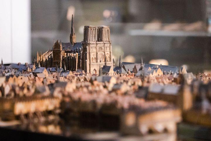 Détail maquette L'île de la Cité en 1527, musée Carnavalet - Histoire de Paris (© Jean-Baptiste Gurliat, Ville de Paris)