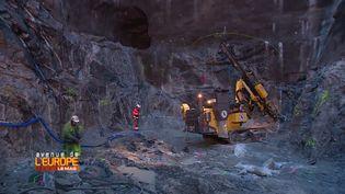 Le chantier du tunnel de contournement de Stockholm, en Suède. (FRANCE 3 / FRANCETV INFO)
