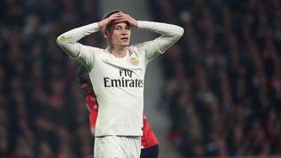 Julian Draxler, le joueur du PSG, effondré par la défaite à Lille (5-1) dimanche 14 avril 2019, la plus lourde du club de la capitale depuis 20 ans. (MAXPPP)