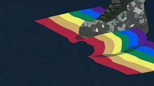 Dans son rapportannuel publié le 15 mai 2018, l'association SOS homophobie rapporte des actes de discrimination dans l'armée. (AWA SANE, BAPTISTE BOYER)