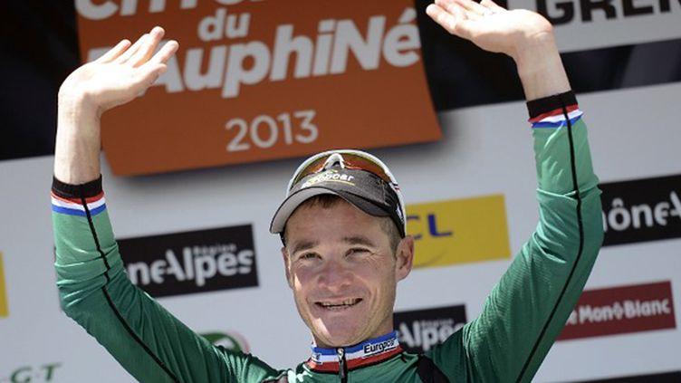 Le coureur d'Europcar Thomas Voeckler (JEFF PACHOUD / AFP)