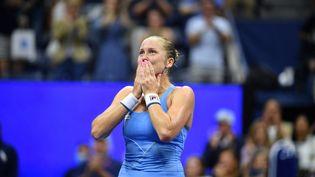 L'Australienne Ashleigh Barty durant l'US Open le 4 septembre 2021 à New-York. (ED JONES / AFP)