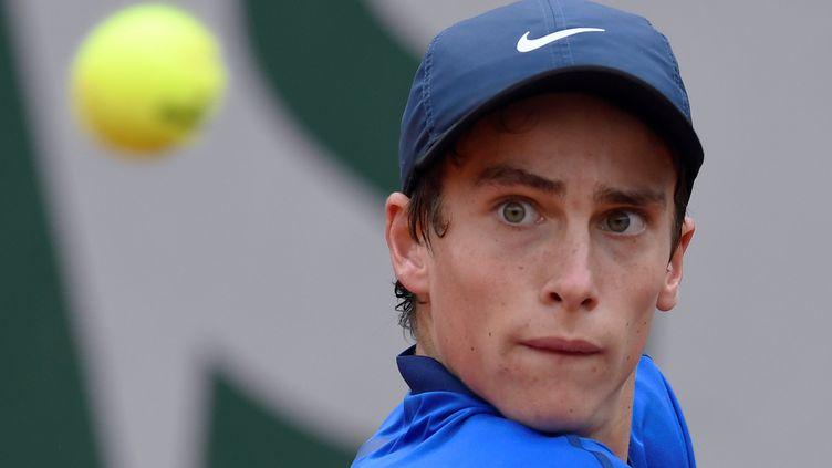 Geoffrey Blancaneaux, vainqueur du tournoi juniors de Roland-Garros en 2016 (MIGUEL MEDINA / AFP)