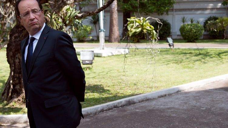 François Hollande, le 5 novembre 2012, à Vientiane, au Laos. (BERTRAND LANGLOIS / AFP)