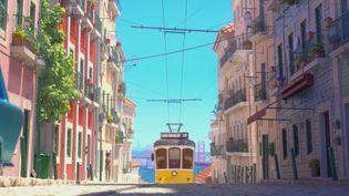 Un extrait du film d'animation O28, dont l'histoire se déroule dans les rues de Lisbonne. (FRANCEINFO)