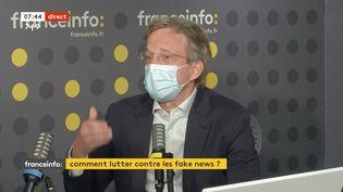 Fabrice Fries, président-directeur général de l'Agence France-Presse, mercredi 14 avril sur franceinfo (CAPTURE D'ECRAN/FRANCEINFO)