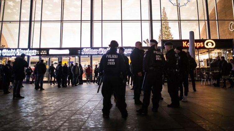 (La sécurité a été renforcée dans la gare centrale de Cologne © maxPPP)
