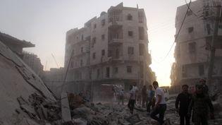 Sûr de sa victoire prochaine, Bachar Al-Assad refuse d'entendre parler de trêve à Alep. (AMEER AL-HALBI \ APAIMAGES / MAXPPP)