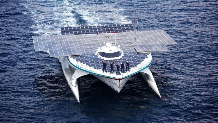 Le bateau de Raphaël Donjan, le Planet Solar (RAPHAEL DONJAN)