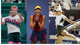Andre Agassi, Martina Hingis et Emma Raducanu ont en commun d'avoir participéà des finales de Grand Chelemtrès jeunes. (AFP)