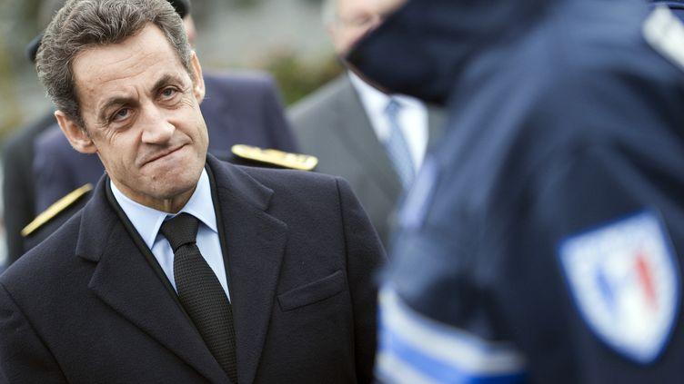 Nicolas Sarkozy, lors d'une viste à Orléans, le 3 février 2011. (LIONEL BONAVENTURE / AFP)