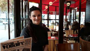 Sonia, l'une des trois victimes du comptoir Voltaire à Paris où un kamikaze s'est fait exploser le 13 novembre 2015. (Jérôme Jadot / RADIO FRANCE)