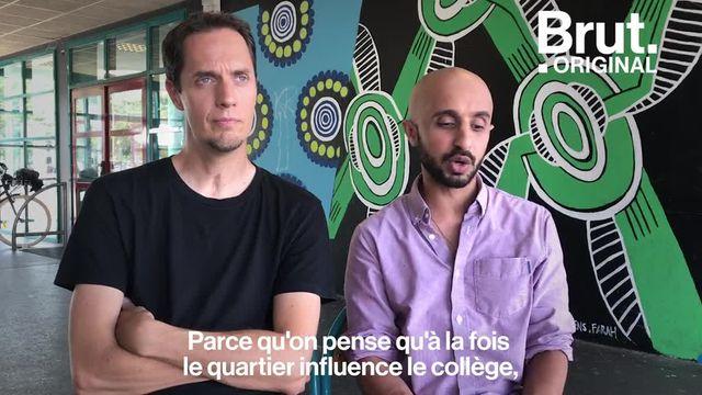 """Grand Corps Malade et Mehdi Idir racontent le quotidien des élèves et des profs d'un lycée de Saint-Denis, dans leur nouveau film """"La vie scolaire"""". Ils expliquent en quoi c'est important pour eux."""