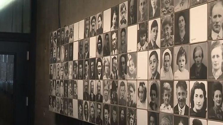 Portraits des victimes du massacre d'Oradour-sur-Glane (Haute-Vienne) durant la Seconde Guerre mondiale. (FRANCE 3)