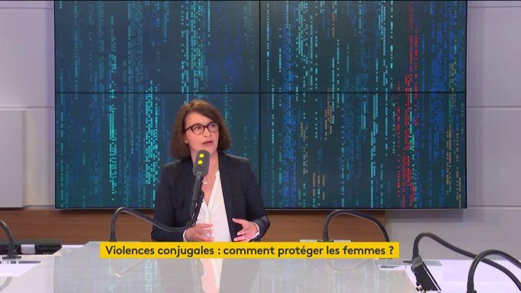 Cécile Duflot était l'invité de franceinfo samedi 9 mars à 8h30. (RADIO FRANCE / FRANCEINFO)