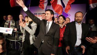 Manuel Valls, le 18 janvier à Boisseul (Haute-Vienne). (PASCAL LACHENAUD / AFP)