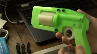 Le ministère de la Justice américain a légalisé les armes fantômes, qui peuvent être imprimées via une imprimante 3D. Chargées avec de vraies balles, elles peuvent tuer. (FRANCE 2)