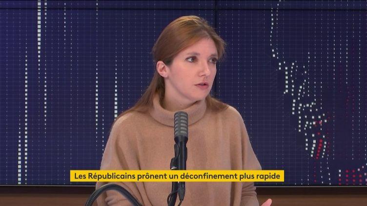 Aurore Bergé, sur franceinfo, le 6 décembre 2020. (FRANCEINFO / RADIOFRANCE)