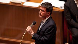 Manuel Valls devant les députés le 18 février 2015 à Paris (CITIZENSIDE / YANN BOHAC / AFP)