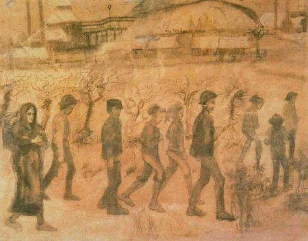 Un dessin de Van Gogh réalisé lors de son séjour dans le Borinage  (DR)