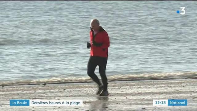 Loire-Atlantique : dernières heures à la plage de La Baule