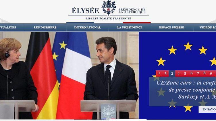 Capture d'écran du site internet de l'Elysée. (FTVi)