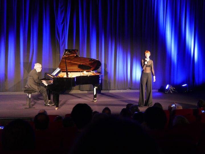 Le pianiste Bruno Fontaine et la chanteuse Isabelle Georges. (Lorenzo Ciavarini Azzi/franceinfo Culture)