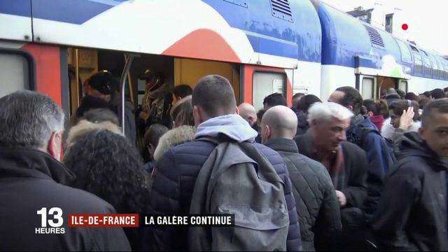 Grève SNCF : la galère continue en Ile-de-France