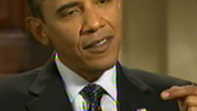 Le président américain Barack Obama, lors de son intervention télévisée aux Etats-Unis, le 20 septembre 2009 (© France 2)
