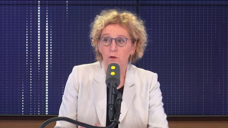 """Muriel Pénicaud, ministre du Travail, invitée du """"8h30 franceinfo"""", mercredi 15 janvier 2020. (FRANCEINFO / RADIOFRANCE)"""