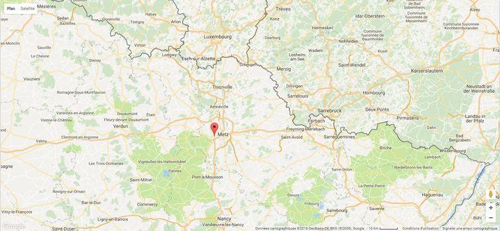 Moulins-lès-Metz, Moselle, 6 juin 2018. (GOOGLE MAPS)