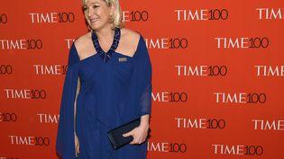 La présidente du Front national Marine Le Pen, le 21 avril 2015 à New York (Etats-Unis). (TIMOTHY A. CLARY / AFP)
