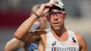 Le champion du monde 2017 du 50km marche, Yohann Diniz, termine sa préparation au Portugal, perturbée par les nombreux formulaires et documents administratifs à remplir, avant de s'envoler pour le Japon. (PHILIPPE MILLEREAU / KMSP via AFP)