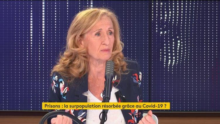 Nicole Belloubet, le 12 juin 2020, sur franceinfo. (FRANCEINFO / RADIOFRANCE)