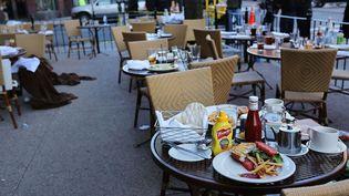 Une terrasse de restaurant, à Boston (Massachusetts, Etats-Unis), le 16 avril 2013. (SPENCER PLATT / GETTY IMAGES)