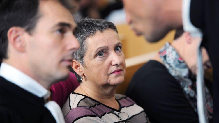 La psychiatre Danièle Canarelli au palais de justice de Marseille (Bouches-du-Rhône) le 13 novembre 2012, lors de l'audience d'ouverture de son procès. (ANNE-CHRISTINE POUJOULAT / AFP)