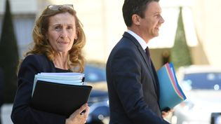 La garde des Sceaux, Nicole Belloubet, sort du Conseil des ministres à l'Elysée, le 20 avril 2018. (ERIC FEFERBERG / AFP)