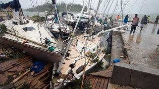 Port Vila, la capitale de l'archipel du Vanuatudans le Pacifique, après le passage du cyclone Pam, le 14 mars 2015. (UNICEF PACIFIC / AFP)