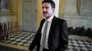 Le député de l'Essonne, Manuel Valls, à l'Assemblée nationale, le 18 octobre 2017. (MAXPPP)