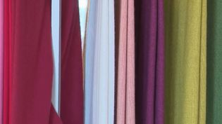 Tissu en laine traité à la manufacture de Brun de Vian-Trian, à L'Isle-sur-la-Sorgue, dans le Vaucluse. (FRANCE 2)