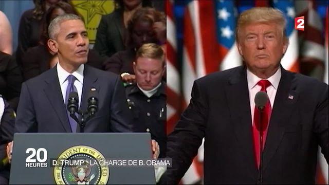 """États-Unis : pour Obama, Trump est """"inapte"""" à lui succéder"""